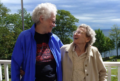 """""""Lennie"""" Gerber and Pearl Berlin have been together for 48 years."""