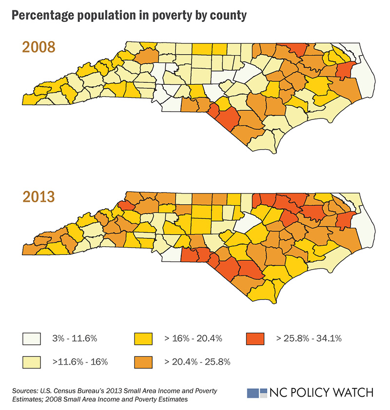 In 2008 47 Counties In North Carolina Had More Than 16 Percent Of Their Population