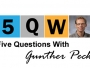 Five questions with Gunther Peck