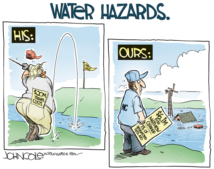 Water Hazards NC Policy Watch - Map of the us hazards comic