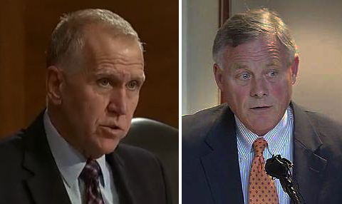 In the impeachment trial, the fading credibility of Tillis, Burr and the Republican Party takes center stage