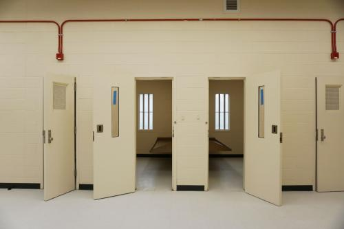 Juvenile detention bedrooms at the C.A. Dillon facility each have a window. There are 10 to a wing in one building and 12 to a wing in another. (Photo by Melissa Boughton)
